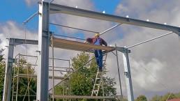 Hallenbau Stahlhallen und Leichtbauhallen - Metallbau Nickel